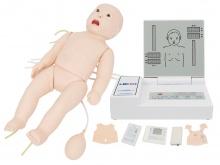 高级全功能婴儿模拟人(急救+护理+听诊+除颤+心电监护)