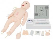 高级全功能新生儿模拟人(急救+护理+听诊+除颤+心电监护)