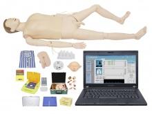 高级综合急救护理训练模拟人(AED、CPR、护理、创伤四合一/有线版)